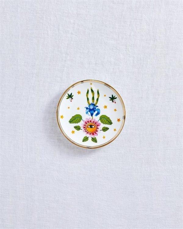 Bitossi Home Flower Eye Plate - Bed Threads