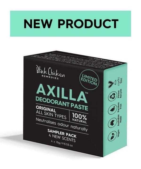 Black Chicken Remedies Axilla Natural Deodorant Paste Original - Sampler Pack 4 x 15g