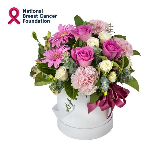 Blessed Blossoms - Pink Arrangement in a Hat Box