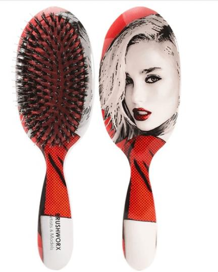 Brushworx Artists and Models Oval Cushion Hair Brush - Big Red