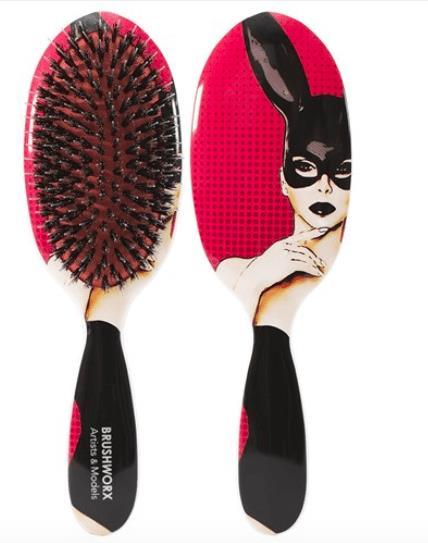 Brushworx Artists and Models Oval Cushion Hair Brush - Bunny Boo