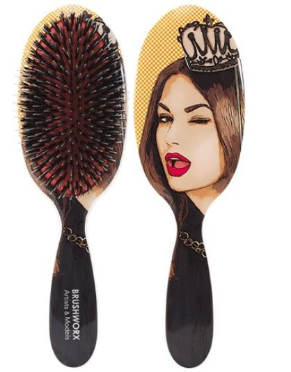 Brushworx Artists and Models Oval Cushion Hair Brush - Queen of High Maintenance