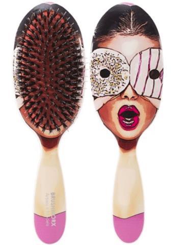 Brushworx Artists and Models Oval Cushion Hair Brush - Sugar Baby