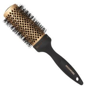 Brushworx Gold Ceramic Hot Tube Hair Brush Medium