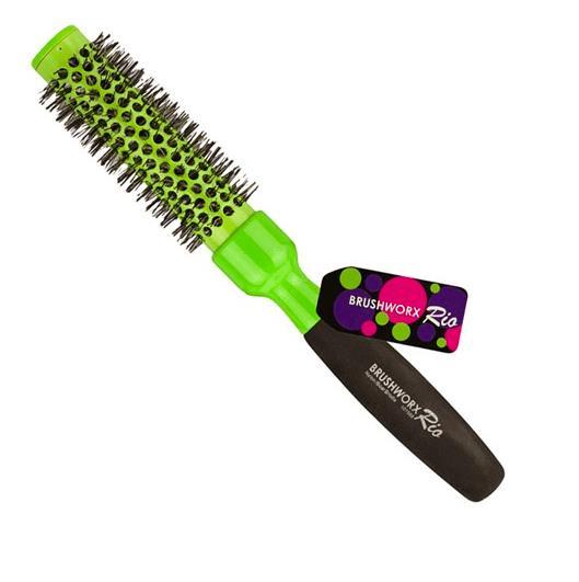 Brushworx Rio Green Ceramic Hot Tube Hair Brush - Medium