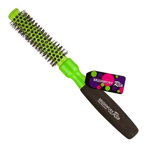 Brushworx Rio Green Ceramic Hot Tube Hair Brush - Small