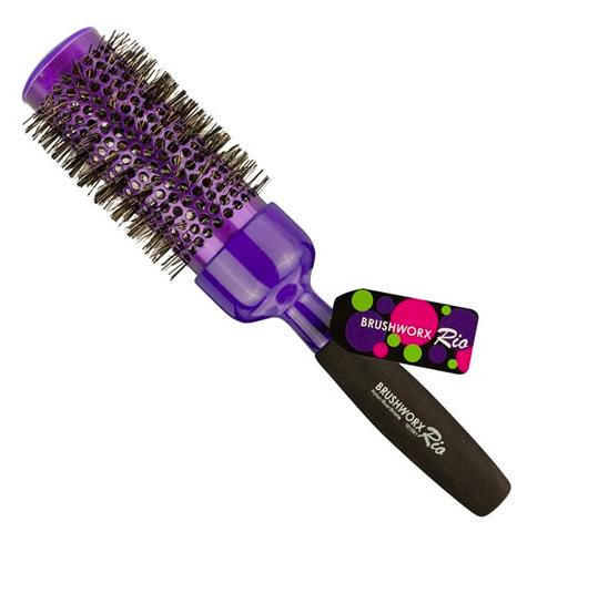 Brushworx Rio Purple Ceramic Hot Tube Hair Brush - Extra Large