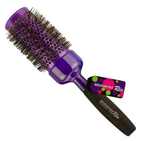 Brushworx Rio Purple Ceramic Hot Tube Hair Brush - Jumbo