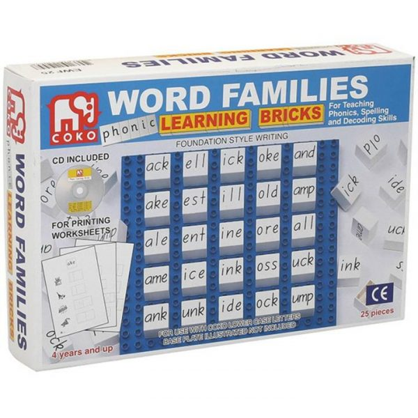 COKO Word Families Learning Bricks