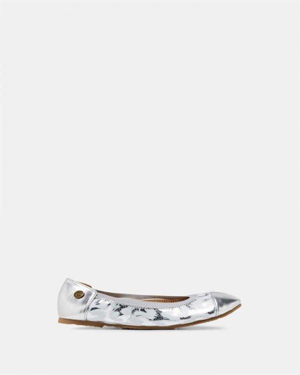 Catie Ballet Silver Leopard