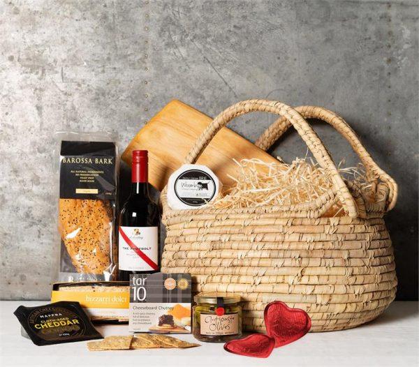 Cheese & Wine Night In Basket