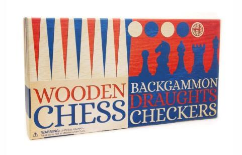 Chess, Backgammon and Draughts Set