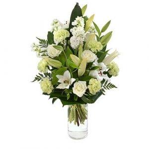 Cloud - Large Bouquet in a Glass Vase