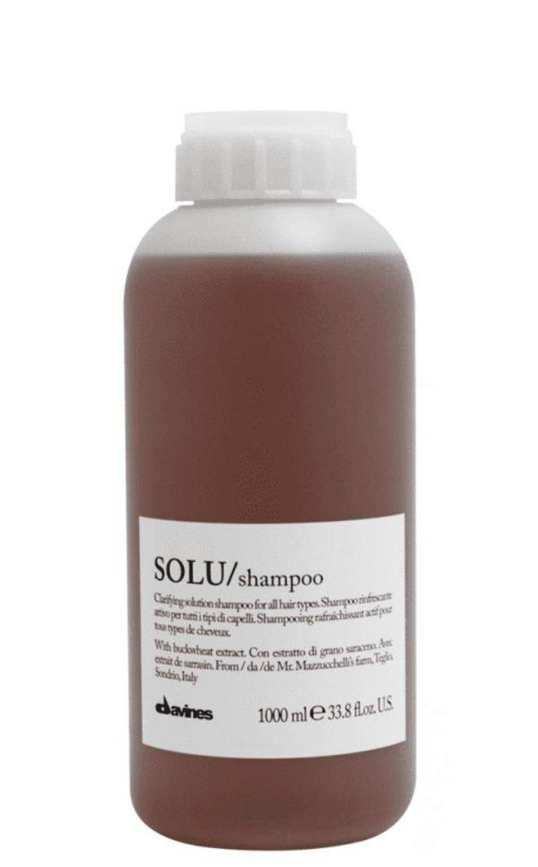 Davines SOLU Shampoo 1000ml Pump Included