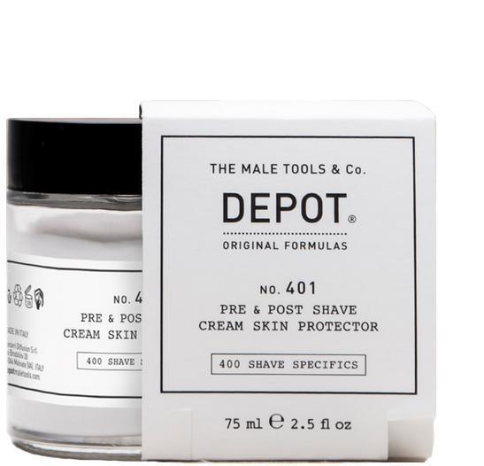 Depot No. 401 Pre & Post Shave Cream Skin Protector 75ml