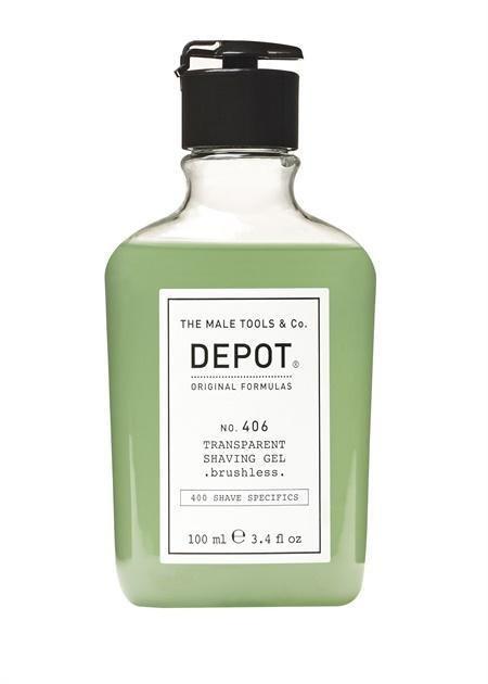 Depot No. 406 Transparent Shaving Gel. Brushless. 100ml