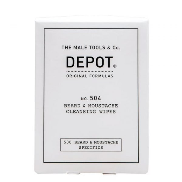 Depot No. 504 Beard & Moustache Cleansing Wipes