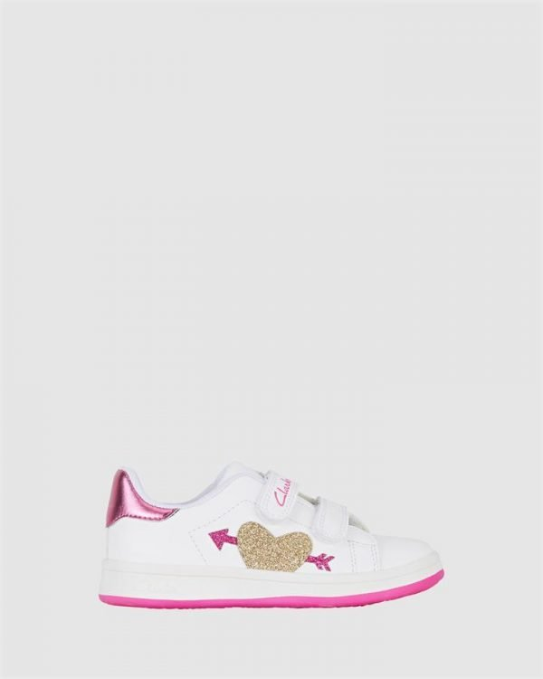 Devoted Jnr White/Fuchsia E+