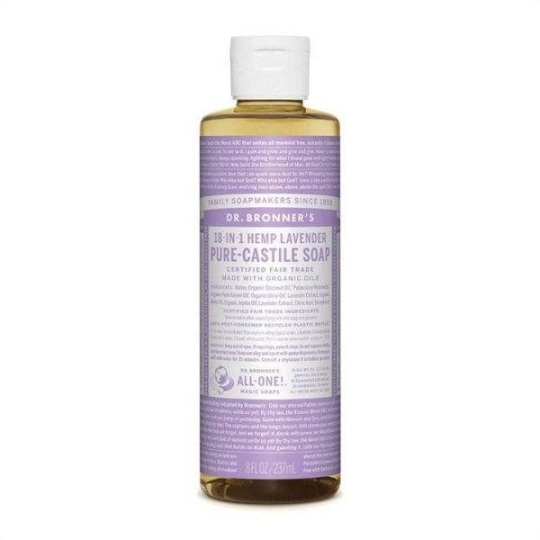 Dr. Bronner's Pure-Castile Soap Liquid (Hemp 18-in-1) Lavender 237ml