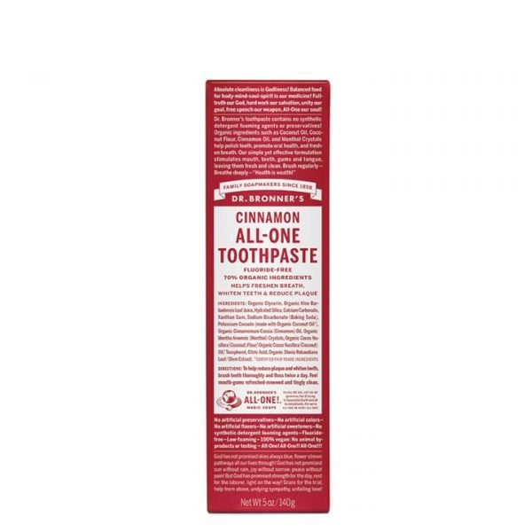 Dr. Bronner's Toothpaste (All-One) Cinnamon 140g