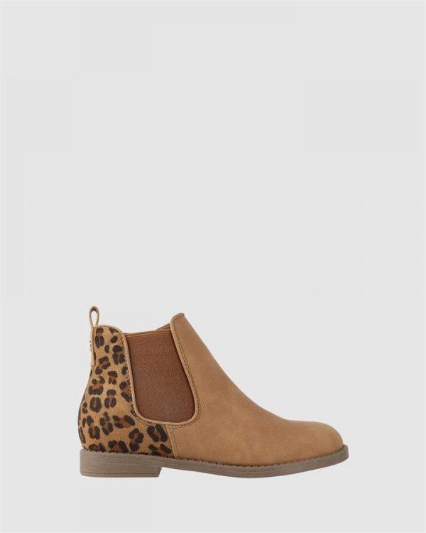 Elise Boot Tan/Leopard