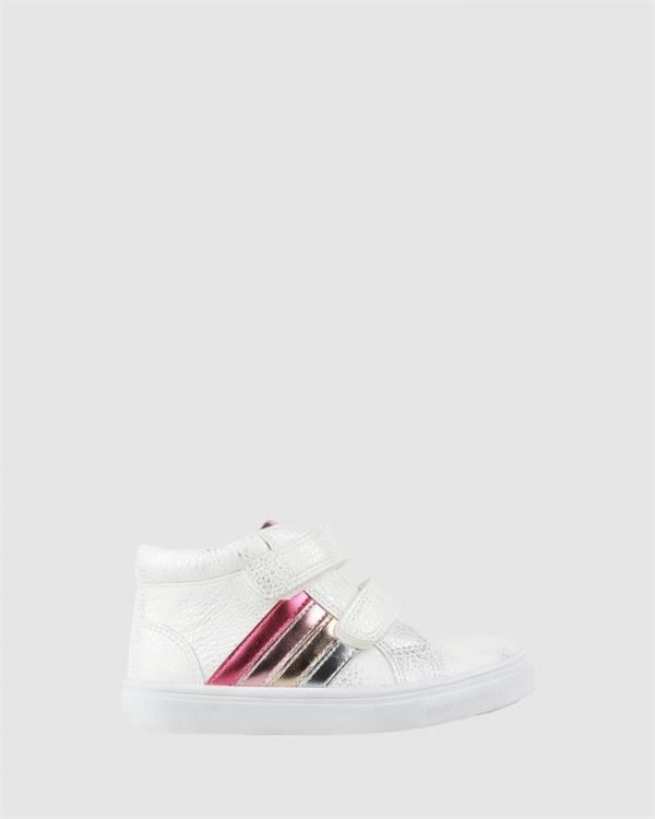Esther Hi Top White/Metallic Multi