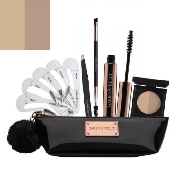 Garbo & Kelly Brow Couture Five Piece Brow Set - Cool Brown