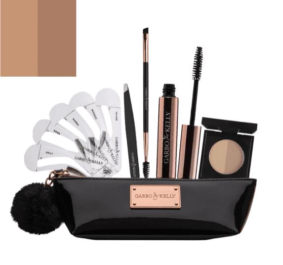 Garbo & Kelly Brow Couture Five Piece Brow Set - Warm Brown