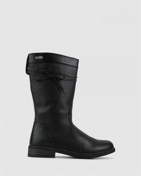 Gisela Bow Boot Black