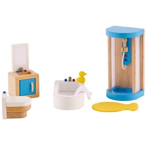 Hape All Seasons Dollhouse Family Bathroom