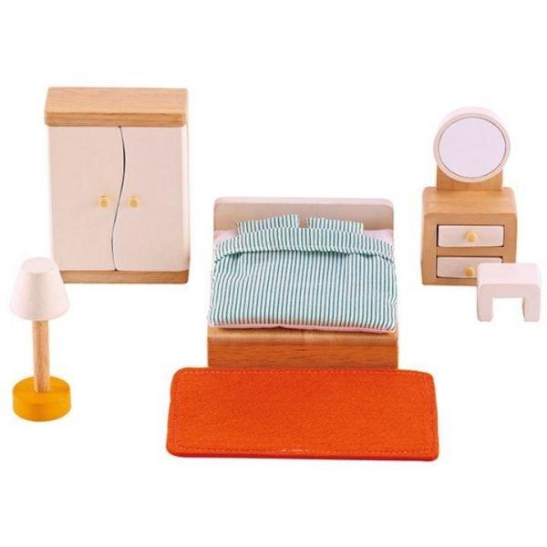 Hape All Seasons Dollhouse Master Bedroom