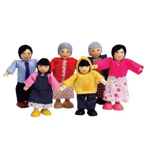 Hape Asian Family Doll Set of 6
