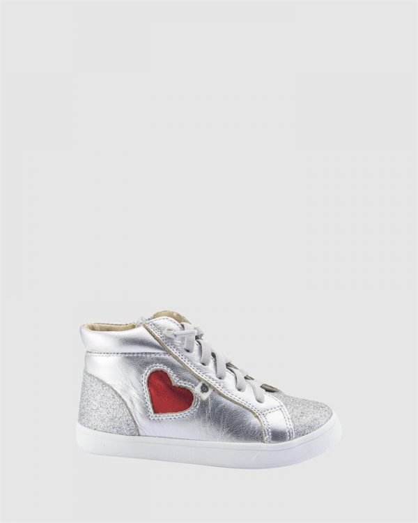Hearty Hightop G Silver/Red