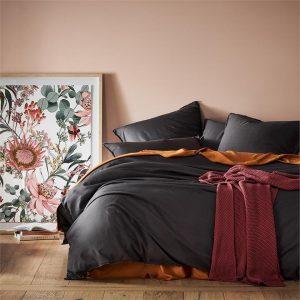Home Republic Bamboo Linen Bedlinen Coal Quilt Cover By Adairs