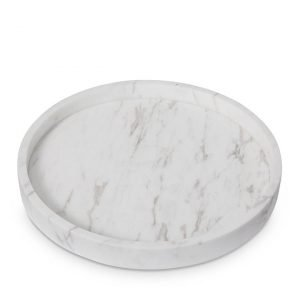 Home Republic Eastside Marble Bathroom Round Tray By Adairs