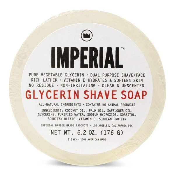 Imperial Glycerin Shave Soap Puck 176g