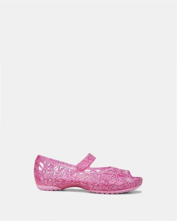 Isabella Glitter Flat Ps Pink