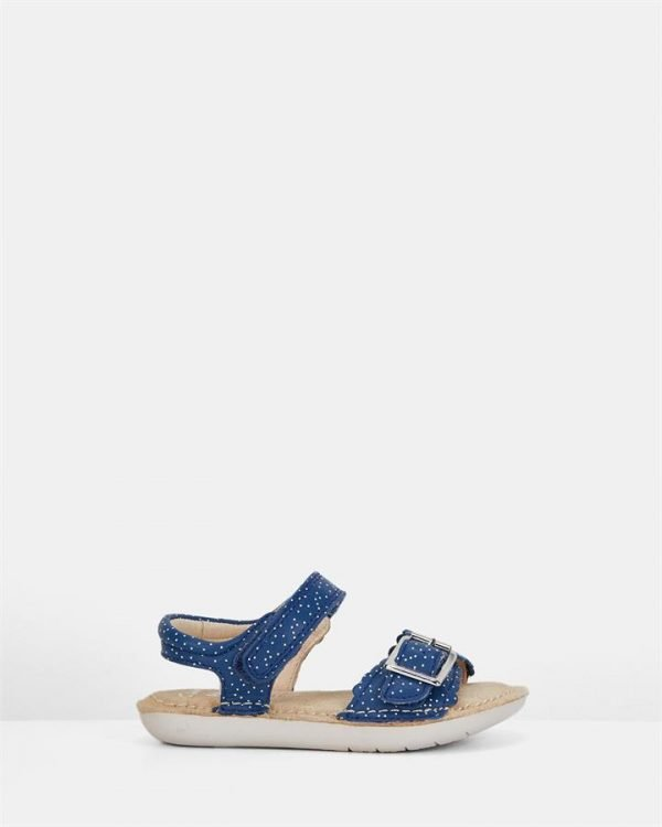 Ivy Blossom Inf Blue Leather