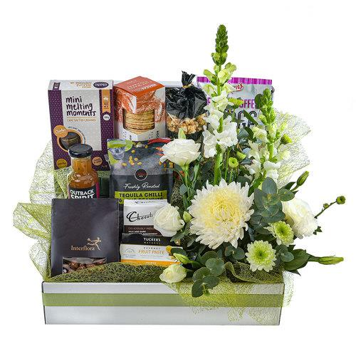 Just For Her - Sweet and Savoury Gourmet Selection with Flowers