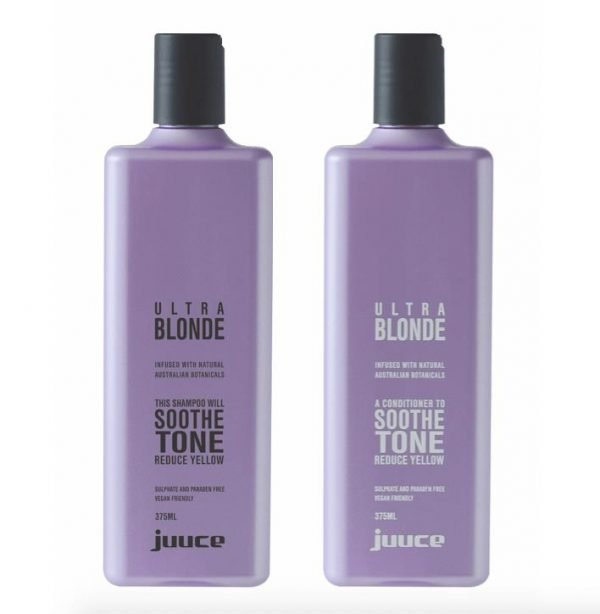 Juuce Ultra Blonde Shampoo and Conditioner 375ml Duo