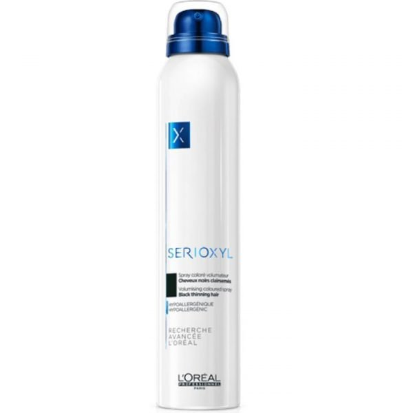 L'Oréal Professionnel Serioxyl Volumising Coloured Spray - Black Thinning Hair 200ml