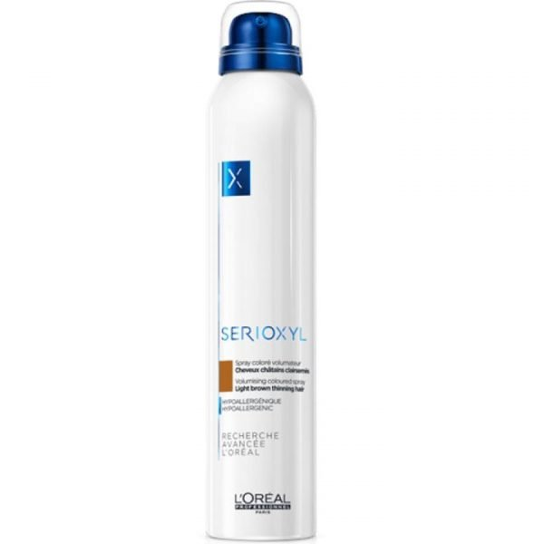 L'Oréal Professionnel Serioxyl Volumising Coloured Spray - Light Brown Thinning Hair 200ml