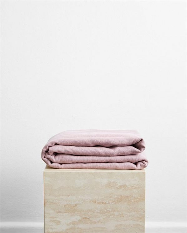 Lavender 100% French Flax Linen Throw - Bed Threads