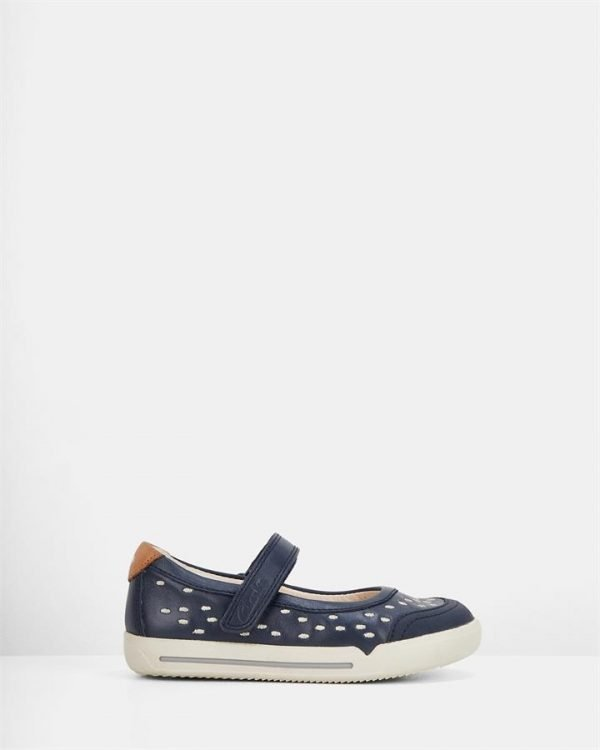 Lilfolk Lou Inf Navy Leather