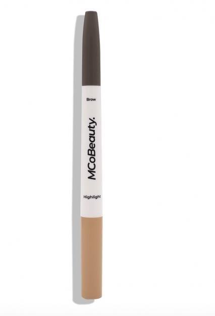 MCoBeauty Duo Brow Crayon & Highlighter - Dark Brown