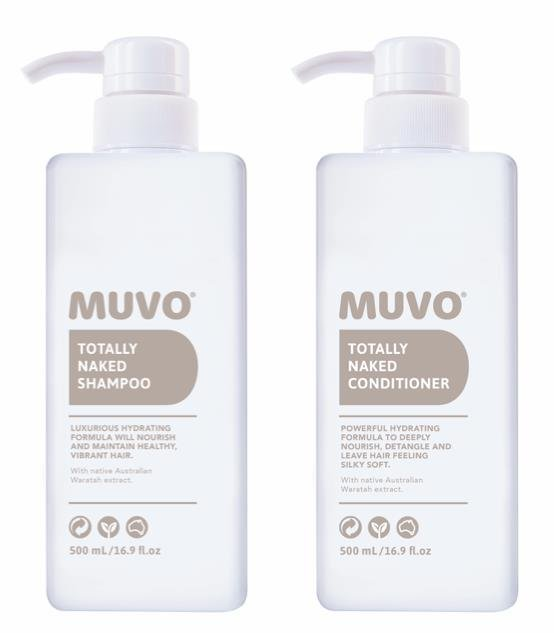 MUVO Totally Naked Shampoo and Conditioner 500ml Duo Pack