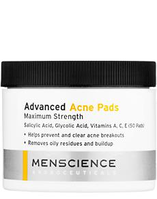 MenScience Advanced Acne Pads 50 Pack