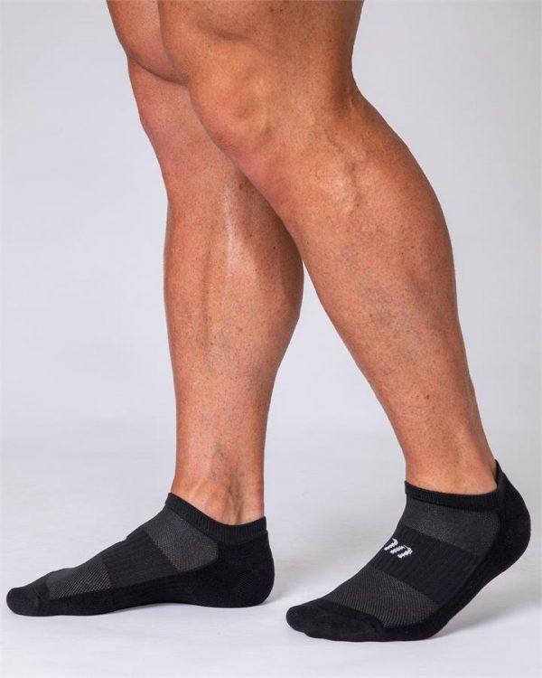 Mens Ankle Socks - 2 Pack (Black, White)