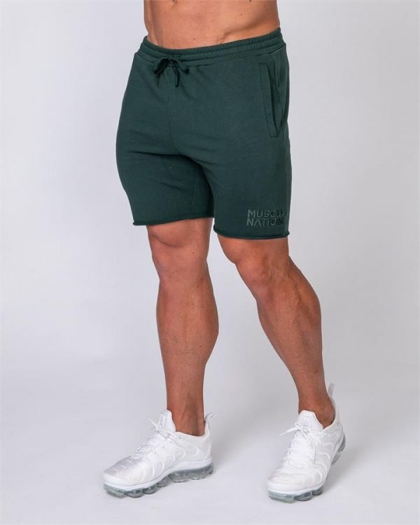 Mens Vintage Shorts - Emerald Green - L