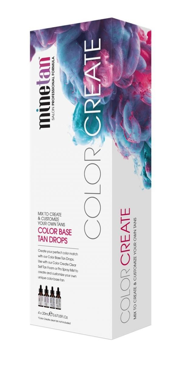 Minetan Color Create Color Base Tan Drops 4 x 20ml